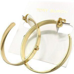 Tory Burch Gold Kira Hoop Earrings